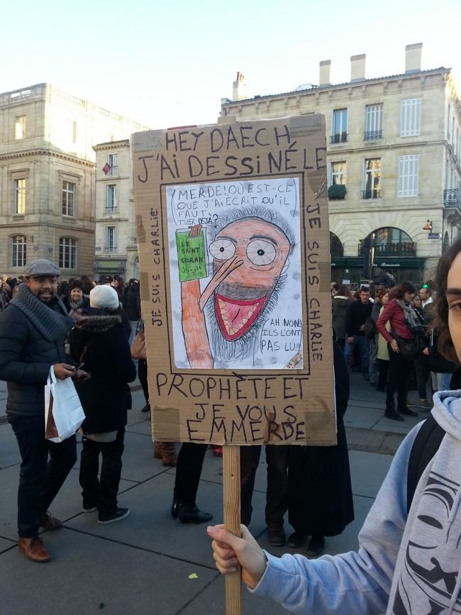 Talentueuse caricature à Bordeaux Je suis Charlie 11 janvier 2015