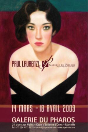 Affiche exposition Paul Laurenzi 2009 Marseille Galerie du Pharos AURORAWEBLOG.