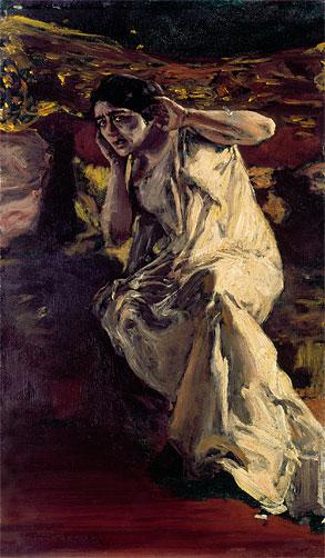 """Albert von Keller """"La danseuse somnambuliste Madeleine Guipet"""" 1904."""