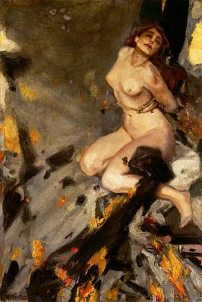 """Albert von Keller """"La descente aux Enfers"""" 1912."""