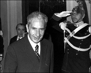 Aldo Moro, Président du parti de la Démocratie Chrétienne  photo d'archives datant de janvier 1978