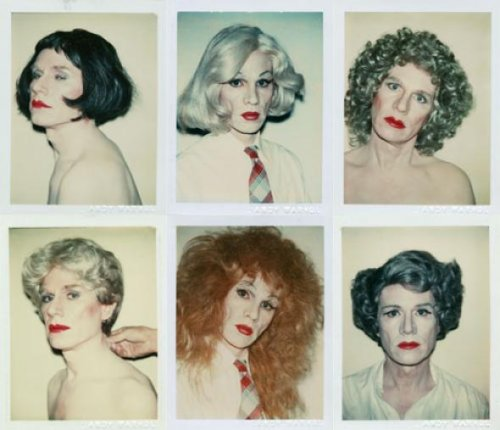 "Andy Warhol ""Portraits in drag"" 1981."