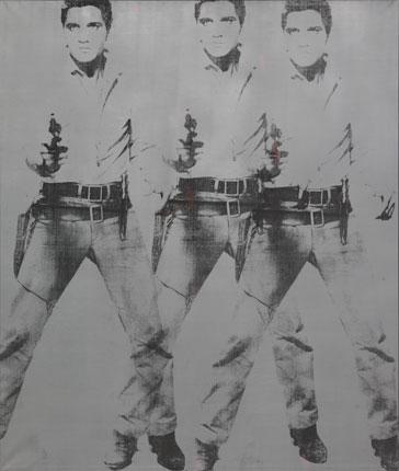 "Andy Warhol ""Triple Elvis"" 1963."