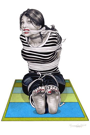 BDSM Bondage Humour Autoportrait Giovanna Casotto AURORAWEBLOG.