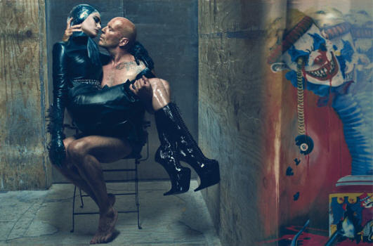 BDSM Bruce Willis and Emma Hemming by Steven Klein W Magazine 2009.