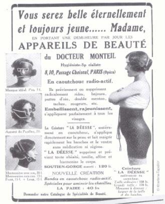 BDSM Humour Les appareils de beauté en caoutchouc radio-actif du Docteur Monteil Paris 1930 AURORAWEBLOG.