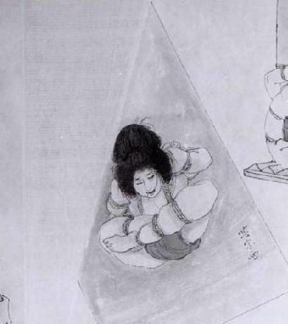 BDSM Ito Seiu Ebi-Shibari de sa première épouse gravure.