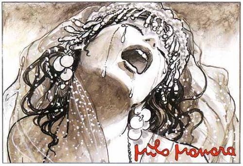 BDSM Larmes et cri dessin Milo Manara.