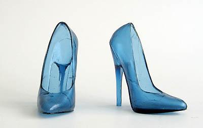BDSM High Heels Les chaussures de verre de Åsa Jungnelius art et sculpture.