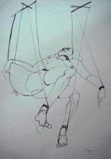 """BDSM Tomi Ungerer """"Femme Marionnette"""", Exposition à la Galerie Martel, Paris, octobre 2009."""