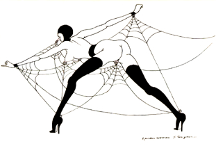 "BDSM Tomi Ungerer ""Spider Woman"", Exposition Galerie Martel, Paris, octobre 2009."