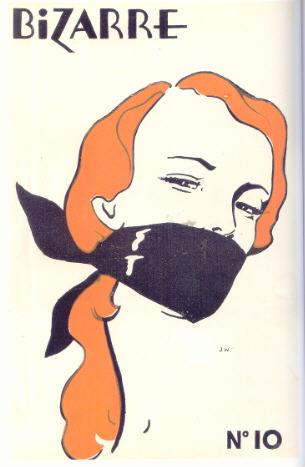 BDSM AURORAWEBLOG Bâillon John Willie parodie affiche Rouge Baiser de René Gruau pour la revue Bizarre No 10 1952.