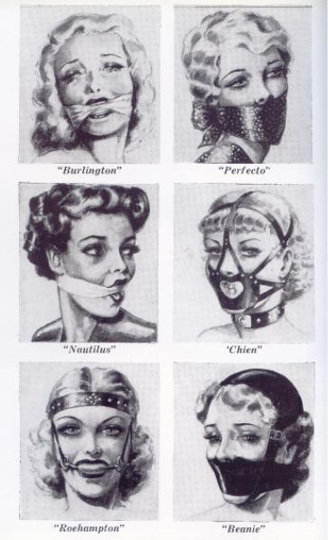 "BDSM AURORAWEBLOG John Willie Bâillons dans la revue ""Bizarre"" No 10 1952."