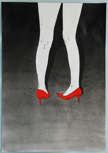 """BDSM Tableau """"Red Shoes"""" by I-Diom."""