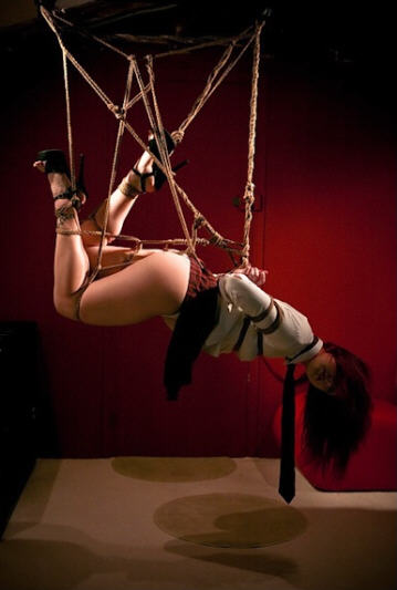 BDSM Shibari Suspension.