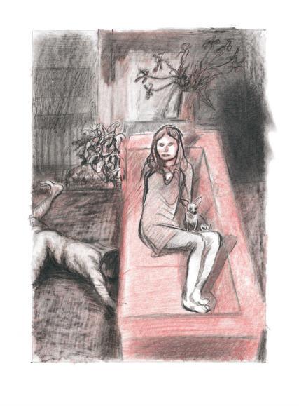 """Blutch (Christian Hincker), 36ème Grand Prix du Festival de la Bande Dessinée d'Angoulême 2009, scan d'une page de """"La Beauté"""" album aux Editions Futuropolis 2008."""