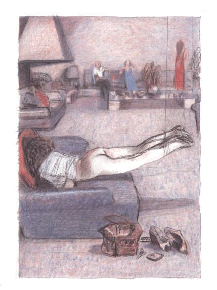 """BDSM Erotisme Blutch """"La femme ligotée"""" dans """"La Beauté"""" album aux Editions Futuropolis, 2008, Grand Prix 36ème Festival de la Bande Dessinée d'Angoulême 2009."""