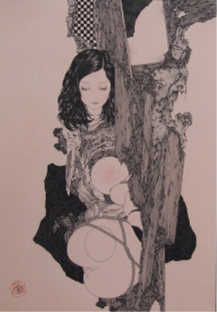 "Takato Yamamoto  BDSM Bondage ""Broken Nest Box"" in ""Japanese Decadence"" exposition Mondo Bizzarro Rome 2008."
