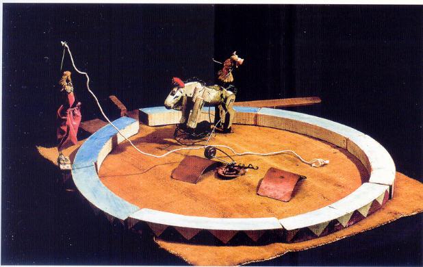Calder Détail du Cirque: La Prima Donna, l'écuyère et son cheval.
