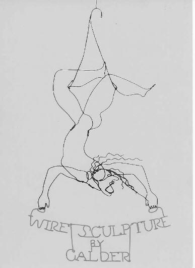 """Calder Wire Sculpture """"Trapéziste"""" 1928."""