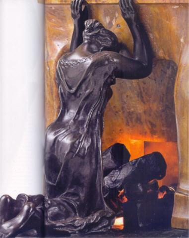 """Camille Claudel sculpture bronze et onyx """"Profonde Réflexion"""" 1905"""