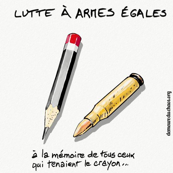 Charlie_Hebdo Lutte à armes égales.