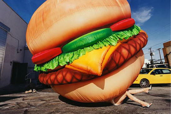 David Lachapelle Burger King ou l'Amérique consumériste.