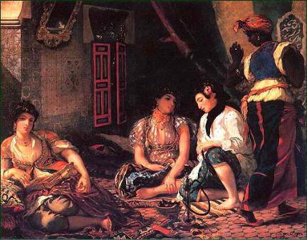 """Eugène Delacroix """"Femmes d'Alger dans leur appartement"""" 1884."""