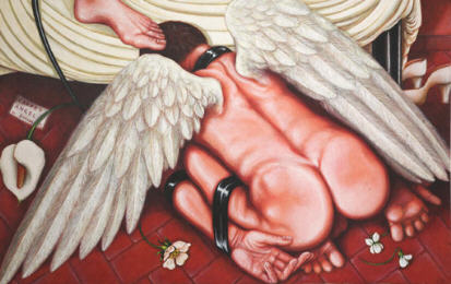 BDSM Art Carpet Angel tableau de Dorian X.