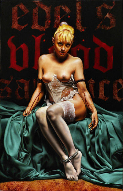 "Saturno Butto ""Edel-Blood"" huile sur bois 2009."