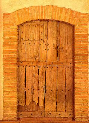 """""""Etant donnés"""", la dernière oeuvre de Marcel Duchamp élaborée de 1946 à 1966 et exposée pour la première fois en 1969. Première partie: La porte massive et son judas."""