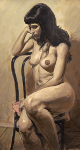 AURORAWEBLOG Frank Luzian York Nude on a chair