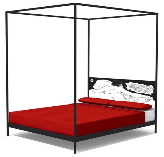 Guido Crepax Valentina La donna è mobile: le lit (BDSM?) imaginé par les designers de Ennezero.