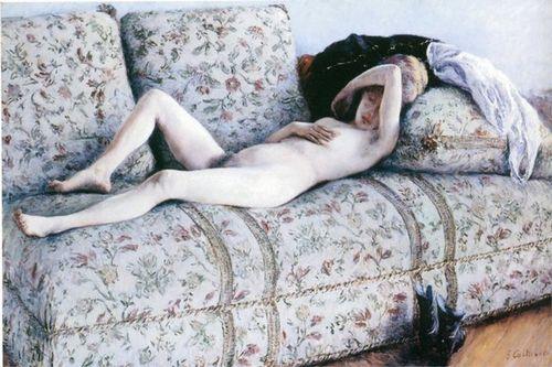 Gustave Caillebotte Nu au divan 1882.