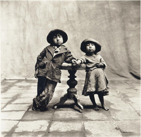 Irving Penn Cuzco Children 1948.