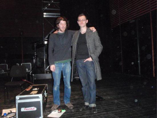 """Jean-Baptiste Del Amo auteur d' """"Une éducation libertine"""" le 5 avril 2009 lecture à l'Escale du Livre de Bordeaux accompagné du musicien Yann Tambour à la kora et au chant AURORAWEBLOG."""