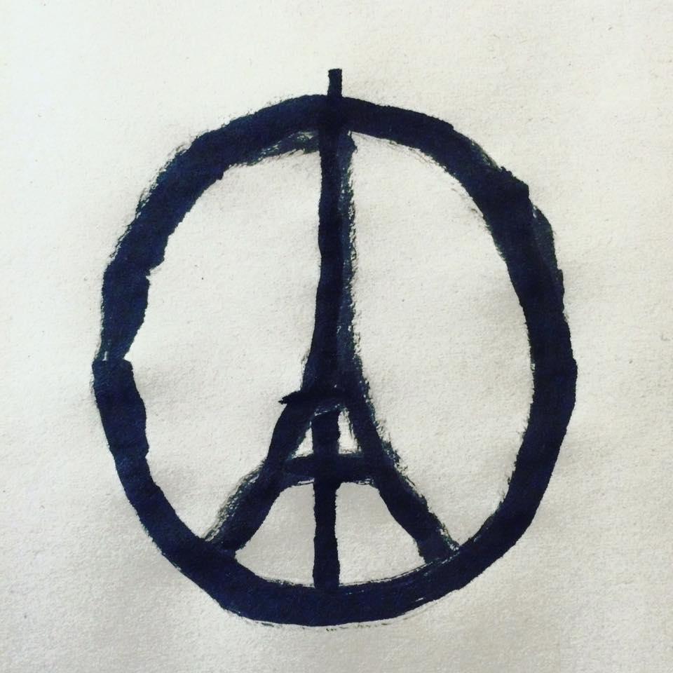 Jean Jullien 13 novembre 2015, la barbarie à Paris.