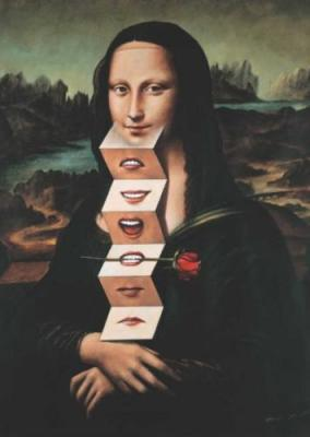 Monna Lisa ou La Joconde Revisitée Tableau de Rafal Olbinski.