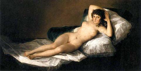 "Francisco Goya ""La Maja Desnuda"" 1800."