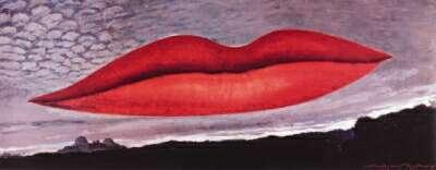 """Man Ray: Tableau """"A l'heure de l'Observatoire; les Amoureux"""" 1936."""