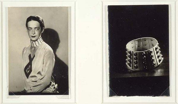 Man Ray: Marjorie Seabrook avec son collier de soumise en argent attribué à Jean-Charles Worth.
