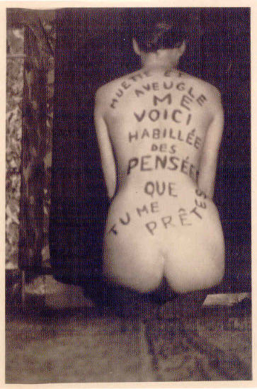 """Marcel Mariën """"Muette et aveugle..."""" 1940-45."""