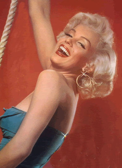 Marilyn Monroe with rope.