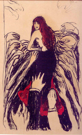 """Munch """"Les Mains"""" 1895, Collection Particulière, « Edvard Munch ou L' 'Anti-Cri' », une exposition du 19 février au 18 juillet 2010 à la Pinacothèque de Paris."""