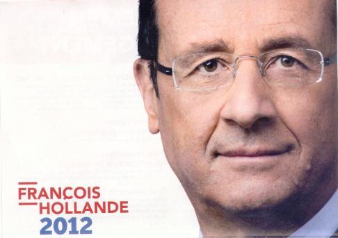 François Hollande Président de la République 6 mai 2012.