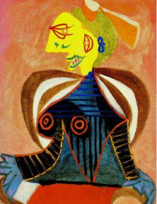 """Picasso """"Portrait de Lee Miller en arlésienne"""" 1937."""