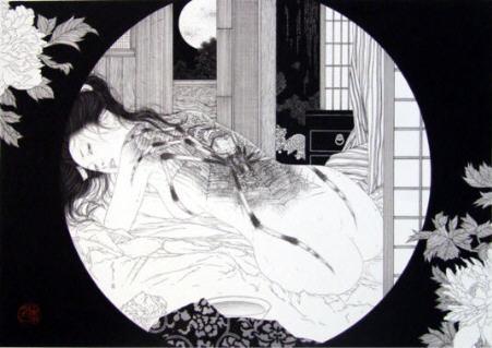 "Takato Yamamoto ""hunga V"" exposition ""Japanese Decadence"" galerie Mondo Bizzarro Rome 2008."
