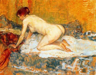 Toulouse-Lautrec Femme aux cheveux roux accroupie 1897.