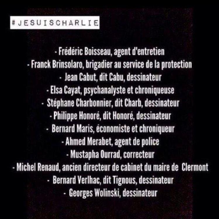 Liste des victimes du massacre du 7 janvier 2015 à Charlie Hebdo.