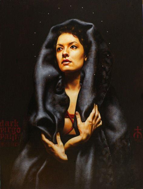 """Virgo Valina"" huile sur bois Saturno Butto 2009."